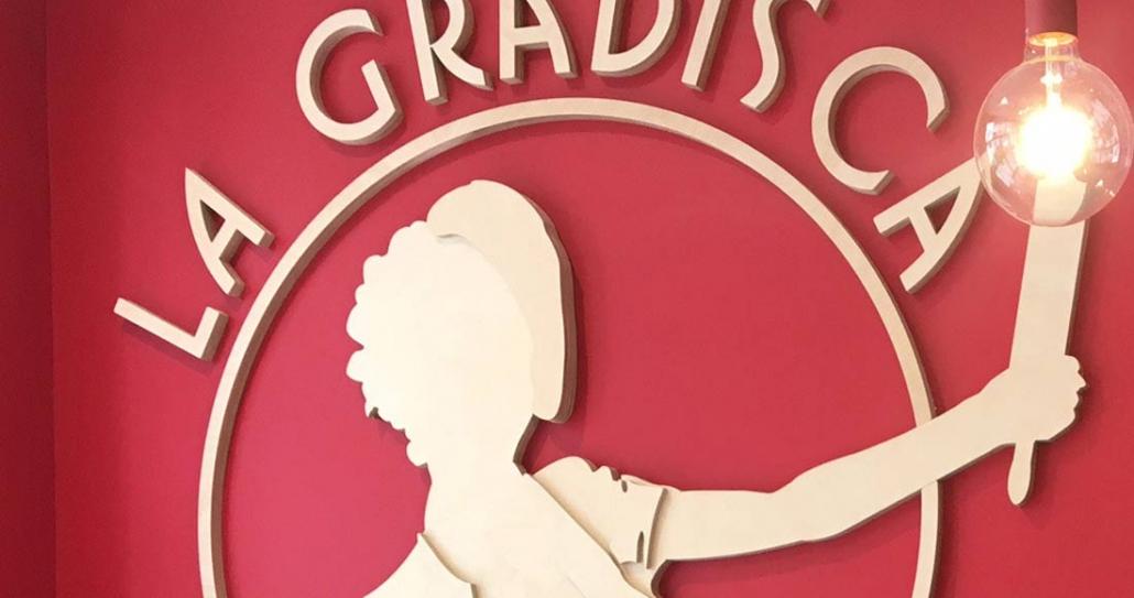 Logo insegna 3D La Gradisca risotrante | Rinoteca