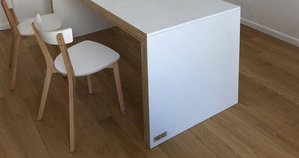 Tavolo bianco scrivania ufficio su misura | Rinoteca