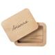 scatola portafoto in legno massello personalizzata con il nome inciso