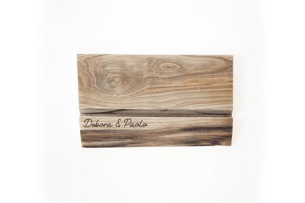 porta tablet in legno massello