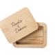 scatola portafoto in legno massello con i nomi incisi