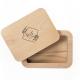 scatola portafoto in legno massello personalizzata con il logo inciso