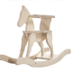 cavallino a dondolo di legno