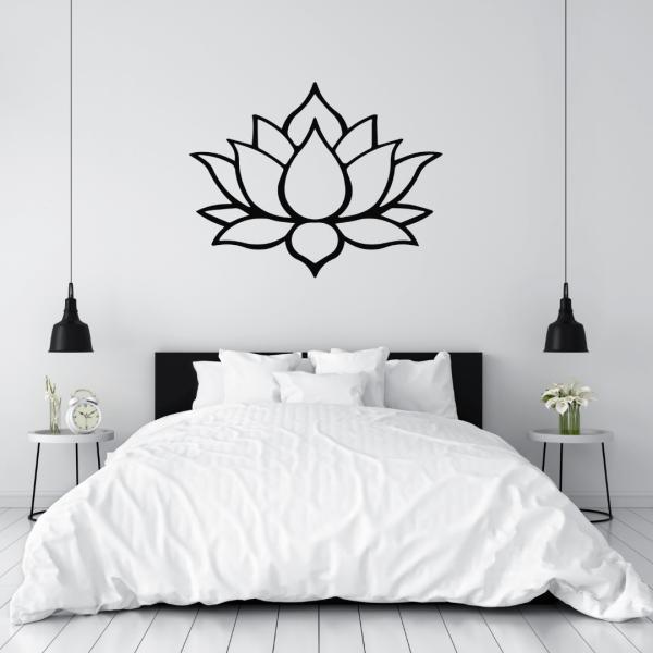 decorazione da parete a forma di fiore di loto