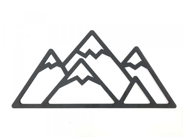 decorazione da parete a forma di montagne