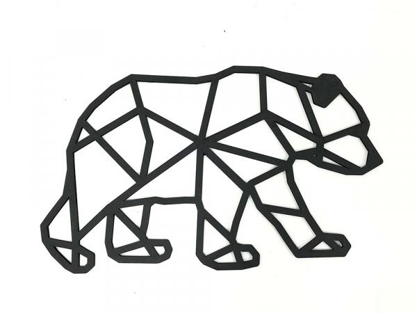 decorazione da parete a forma di orso