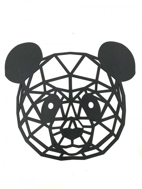 decorazione da parete a forma di panda