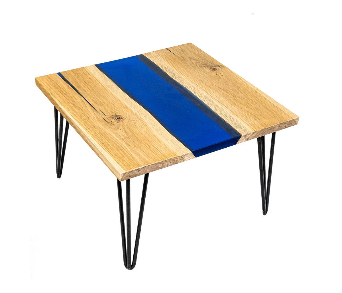 Tavolino In Legno E Resina Rinoteca