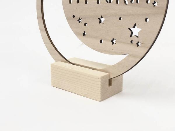 targhetta in legno cameretta bambini con nome