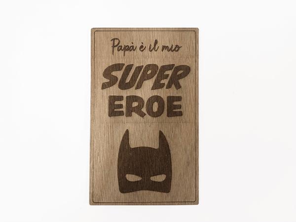targa in legno batman