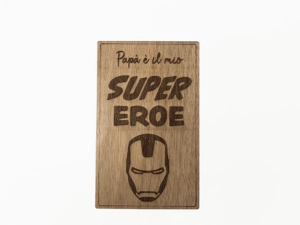 targa in legno ironman